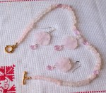 rose quartz,necklace